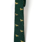103 Krawatte Dackel Gold 1
