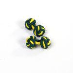 301 Seidenknoten-Manschettenknöpfe Grün Gold 1